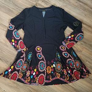 Reborn XL Black Floral Dress